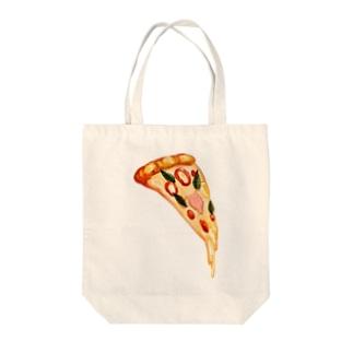 ピッツァ Tote bags
