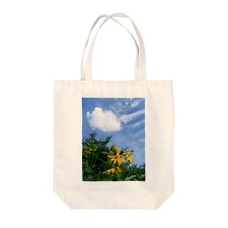 菊芋と空と雲 DATA_P_134 sky cloud Tote bags