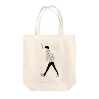 タバコの少年 Tote bags