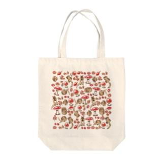 キノコとシマリス Tote bags