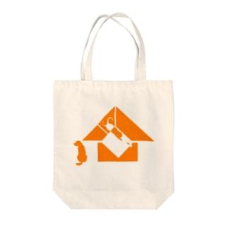 オレンジハウス Tote bags