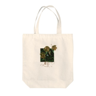 christmas rose moth Tote bags