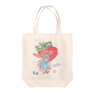 Cute Hula girl / トートバッグ Tote bags
