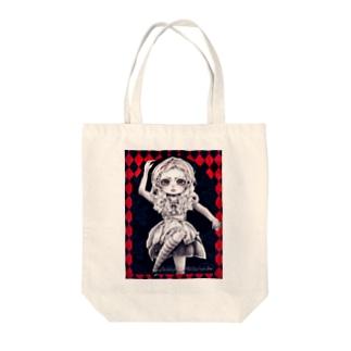 鏡の国のアリス Tote bags
