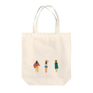 ガールズ Tote bags
