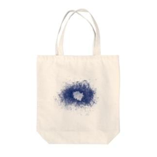 スネア打痕 BLUE Tote bags