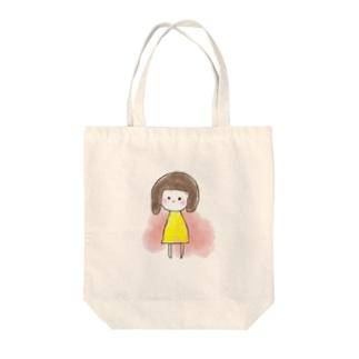 きいろの女の子 Tote bags