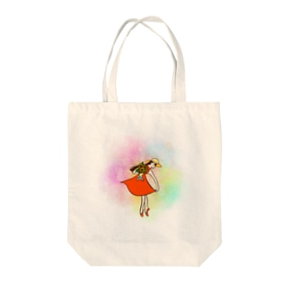 バレリーナ カラフル Tote bags
