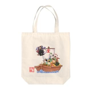 ねこ七福にゃ~ Tote bags