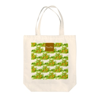 Deer in the forest♪ Tote bags