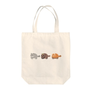 アライグマ.狸.レッサーパンダ Tote bags