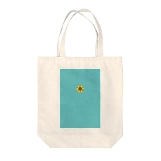 青空のひまわり Tote bags