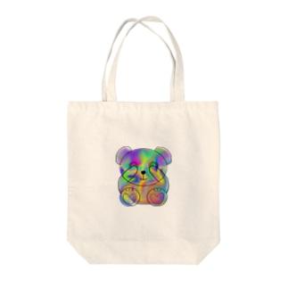 Schale bear Tote bags