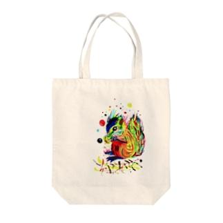 リス Tote bags