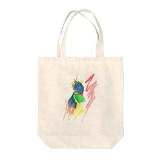 軍鶏 Tote bags