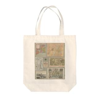 Old Atlas Tote bags