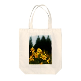 菊芋と樹木 DATA_P_139 tree Tote bags