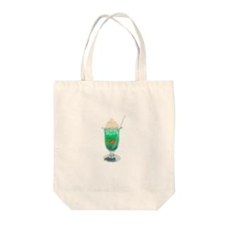 あの日のクリームソーダ Tote bags