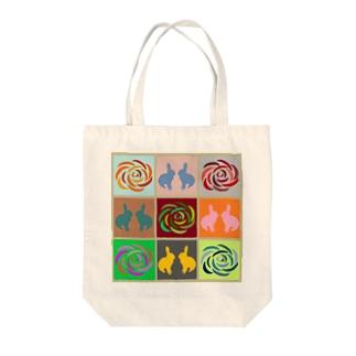ごばんのめCベタ Tote bags