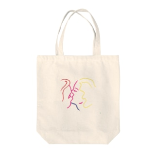 french kiss Tote bags