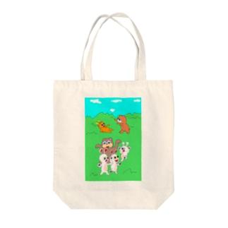 迫る災難 Tote bags