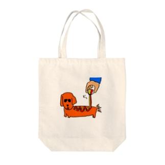 アメリカンドッグ Tote bags