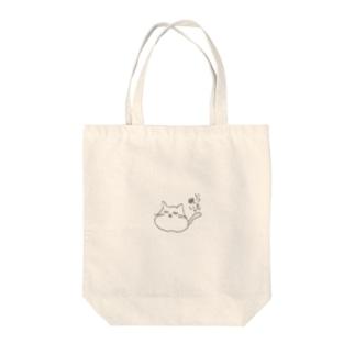 ゆるどろ猫 Tote bags