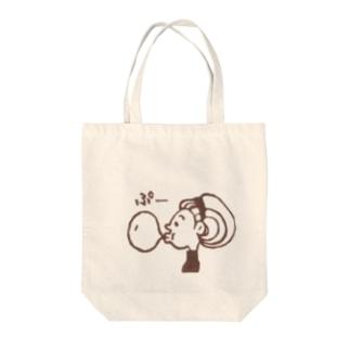 Bubble Gum Brown Tote bags