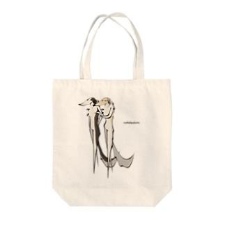 ボルゾイ ランウェイ Tote bags