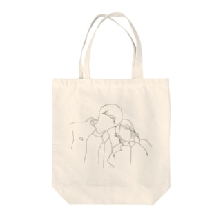 カップルシルエット Tote bags