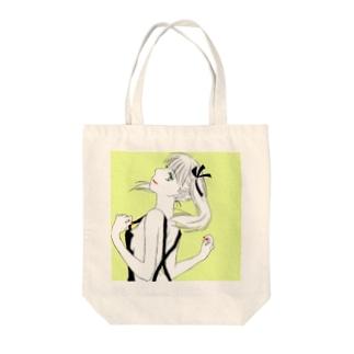 kumifukuのツインテールちゃん Tote bags