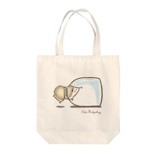 ハリネズミさん⭐︎瓶の中トートバッグ Tote bags