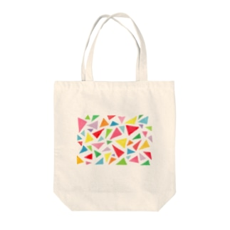 palette_サンカク(colorful) Tote bags