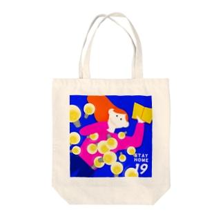 豆知識を蓄える Tote bags