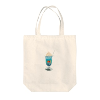 憧れのクリームソーダ Tote bags
