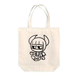 ジンパチくん Tote bags