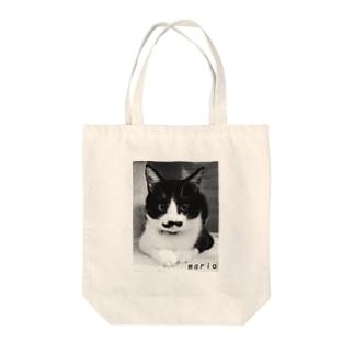 ひげ猫マリオ Tote bags