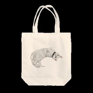 kinako-japanの白猫ソイルちゃん Tote bags