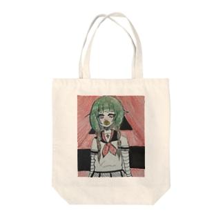 セーラー少女と華 Tote bags