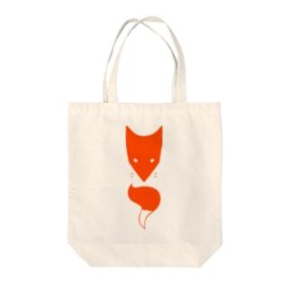 赤キツネ Tote bags