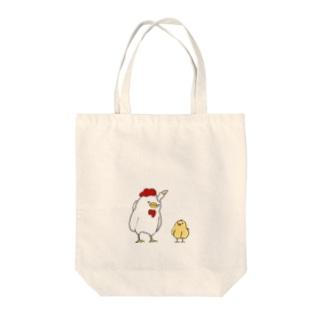 鶏2 Tote bags