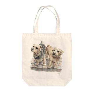 ノーフォークテリア22 Tote bags