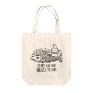 do not eat fish Tote bags