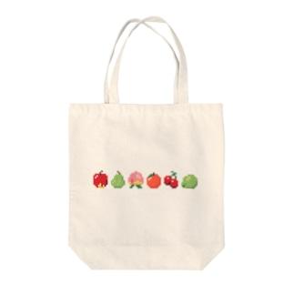 ドット絵フルーツ ヨコ Tote bags