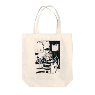 明白のドラゴン Tote bags