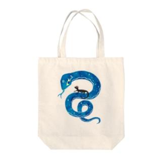 マジカルスネークとトマトカゲ Tote bags
