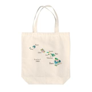 ハワイアイランド Tote bags