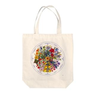 リンネの花時計 Tote bags