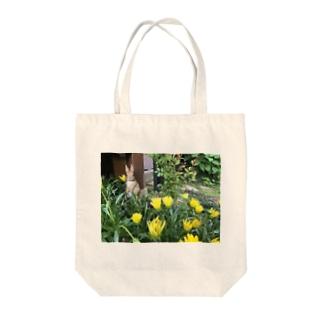 しろた屋の花うさぎ Tote bags