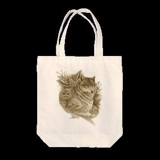 Minoriの月の光(セピア) Tote bags